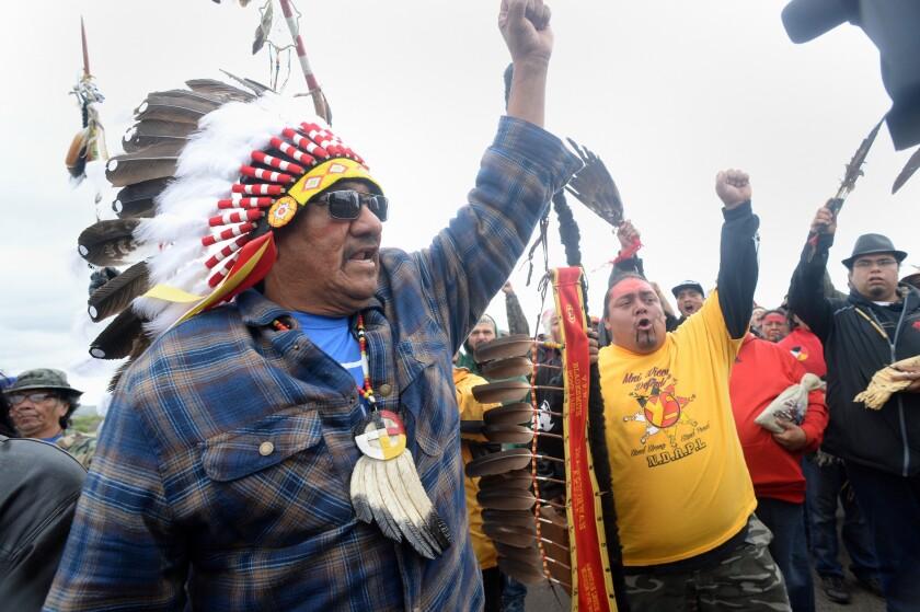 A North Dakota protest against the Dakota Access pipeline.