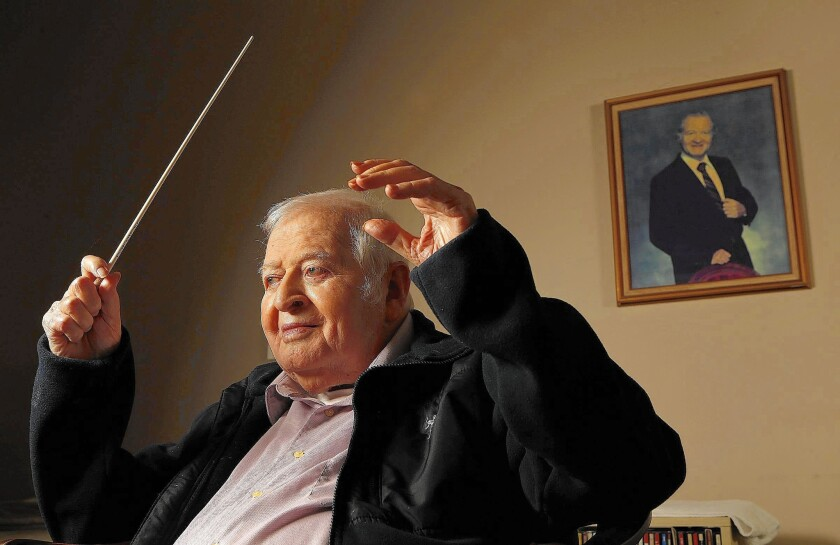 Conductor Alvin Mills, 94, is retiring from the Brentwood-Westwood Symphony Orchestra after 63 years.