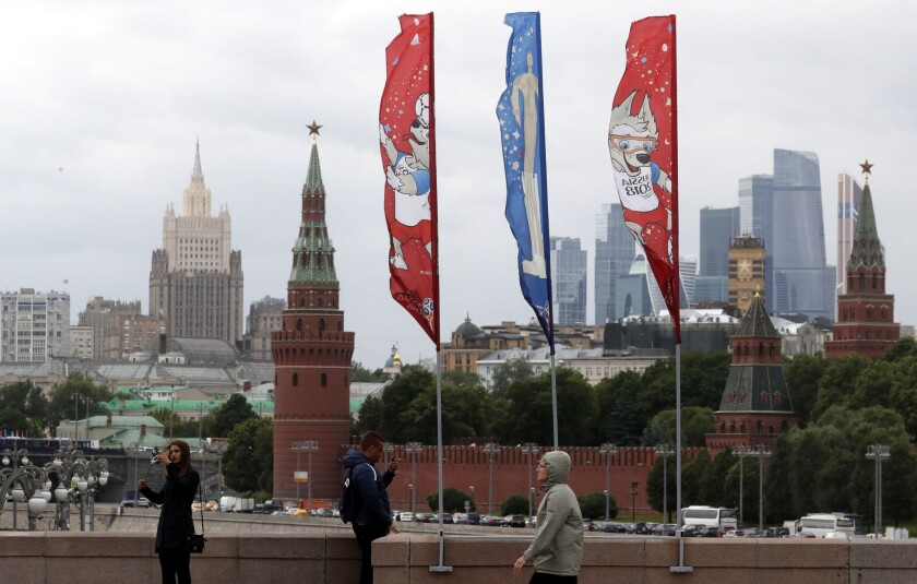 Moscow World Cup flags