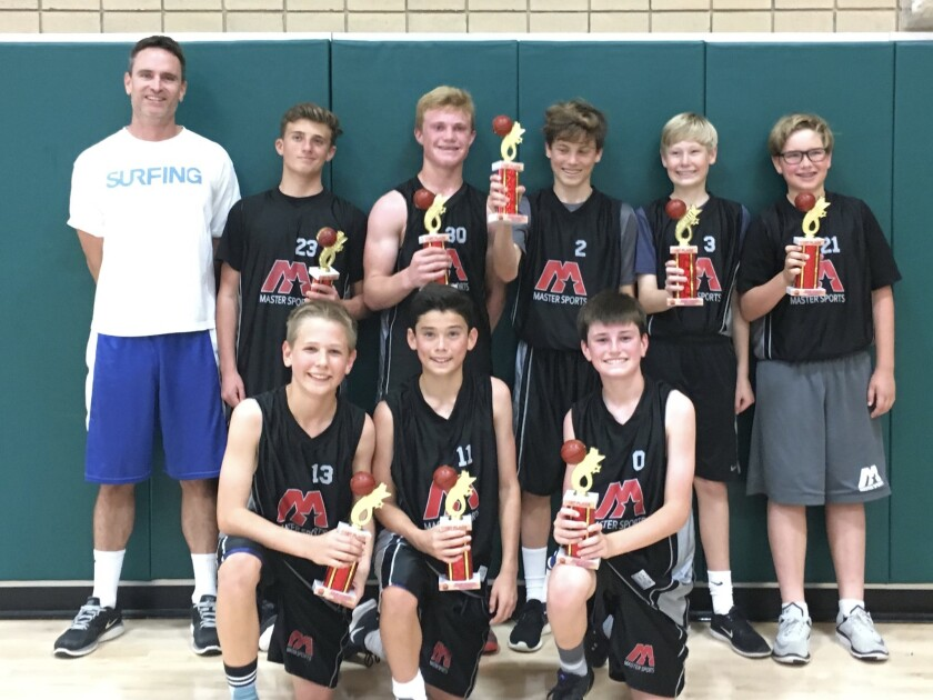 7th and 8th grade Master Your Sports Winter League basketball champions