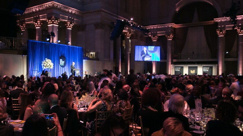 The National Book Awards in 2016, hosted by Larry Wilmore.