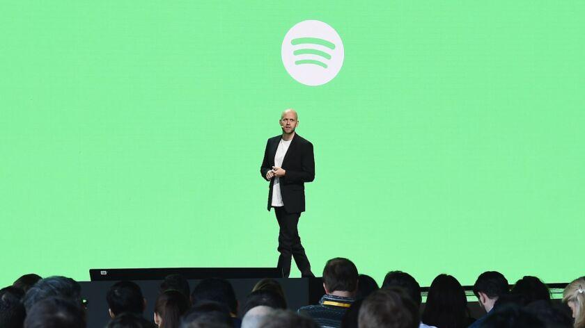 Daniel Ek, chief executive of Spotify.