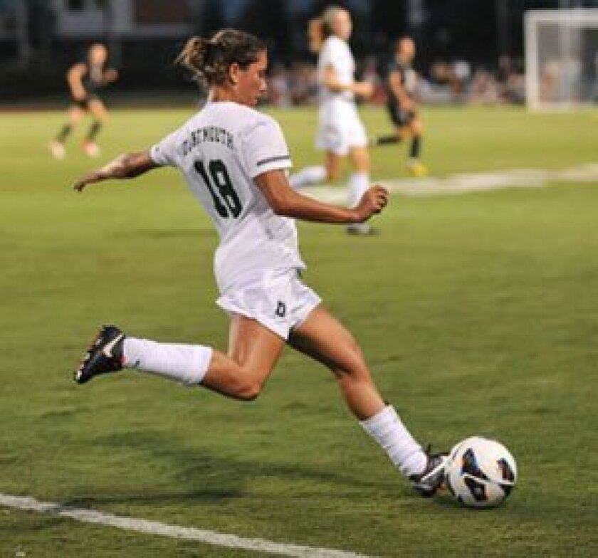Jackie Friedman playing for Dartmouth.