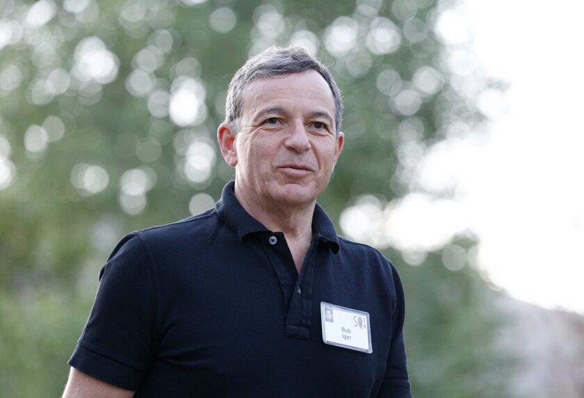 Disney stock is trading above $90 a share. Disney Chief Executive Bob Iger is shown at the Allen and Company 32nd annual Media and Technology Conference in Sun Valley, Idaho, in July.