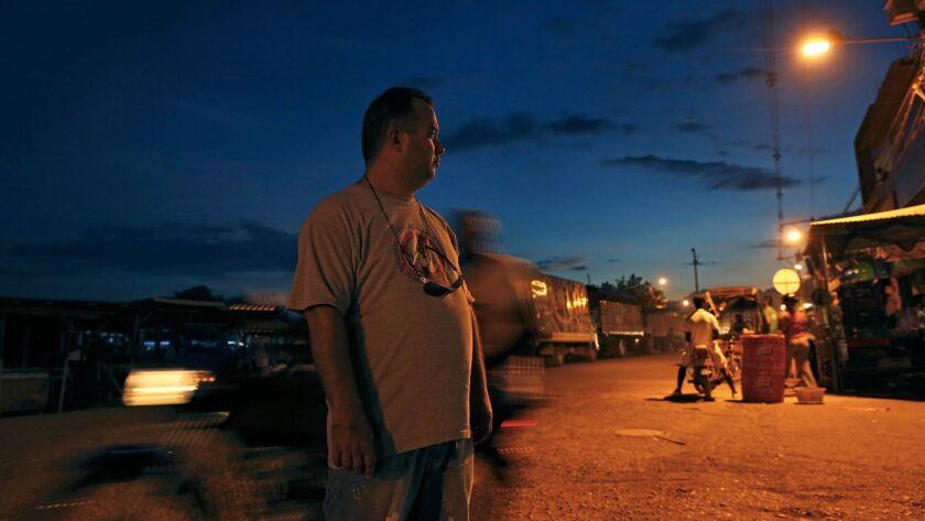 Alexander Gutierrez Garcia in Turbo, Colombia, in September 2016 after he left Cuba hoping to reach the U.S.