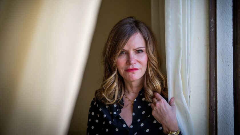 """Actress Jennifer Jason Leigh stars in the new Netflix comedy """"Atypical,"""" as the mother of a son with autism."""