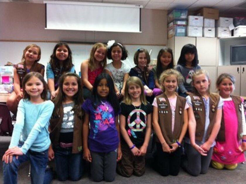 The 2nd grade Ashley Falls Brownie Troop.