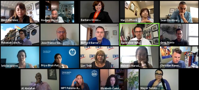 The county's Regional COVID-19 Taskforce for Equitable Recover held its first virtual meeting.