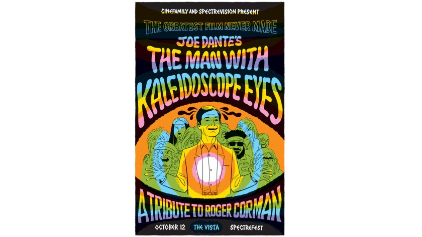 """A poster for a reading of the unproduced screenplay """"The Man With Kaleidoscope Eyes."""""""