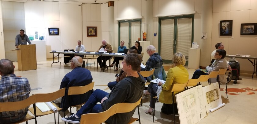 Residents in attendance hear the Peninsula Community Planning Board discussions Nov. 21 at Point Loma Library.