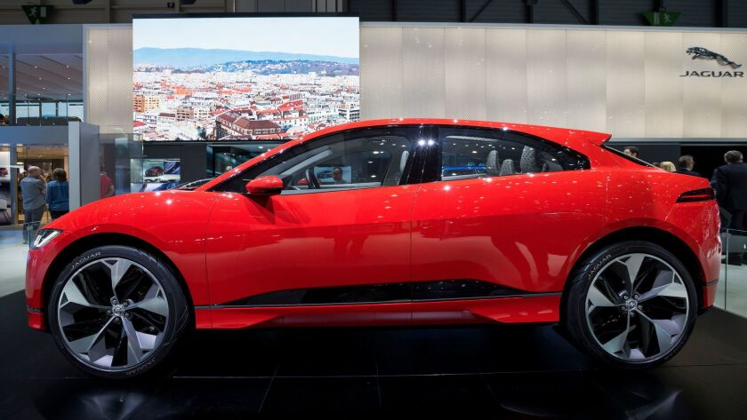 The new Jaguar I-PACE Concept is presented during the press day at the 87th Geneva International Mot