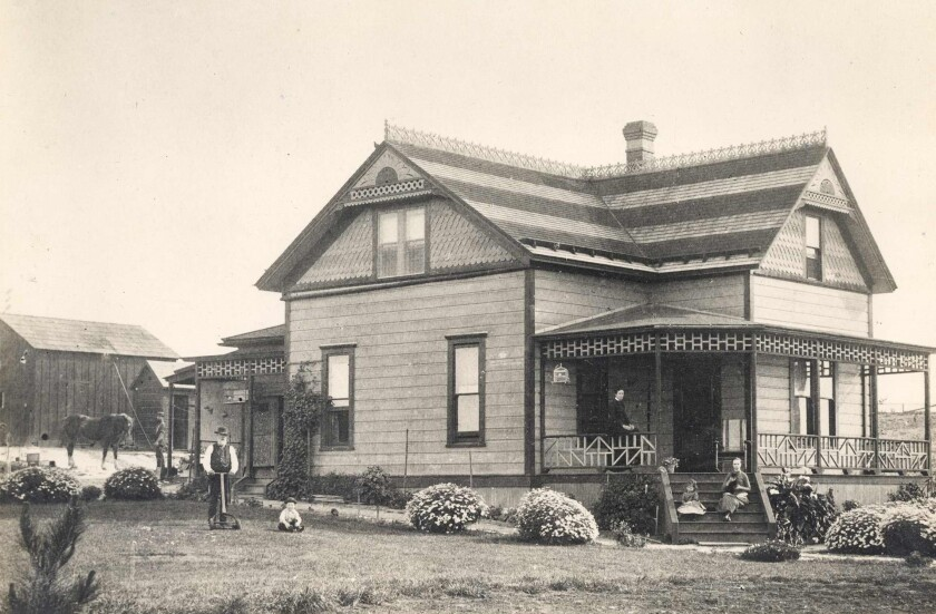 The Heald house, built in 1887 on Silverado Street, was one of the first houses built in La Jolla.