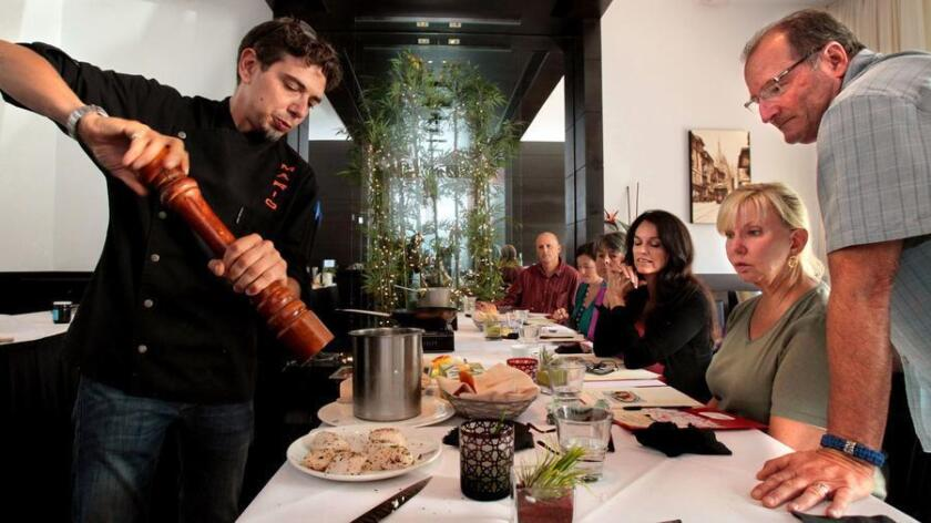 Bice executive chef Mario Cassineri tought a cooking class at the Gamlamp Italian restaurant back in 2013. (Union-Tribune file photo)