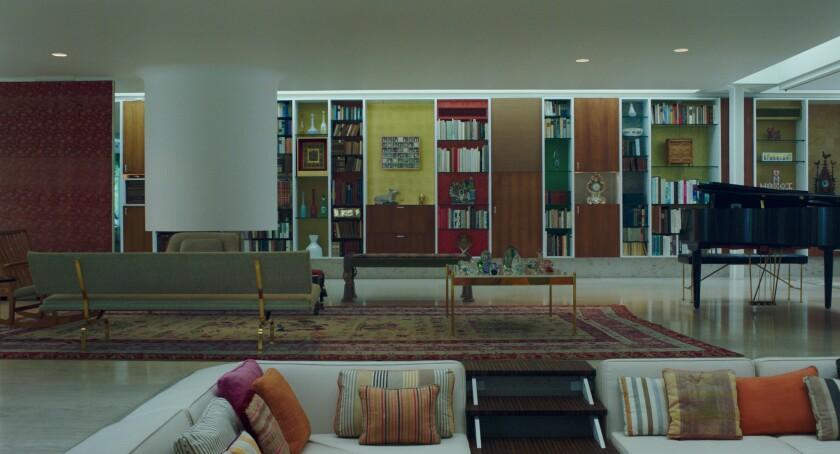 Eero Saarinen's Miller House is a historical landmark in Columbus, Ind.