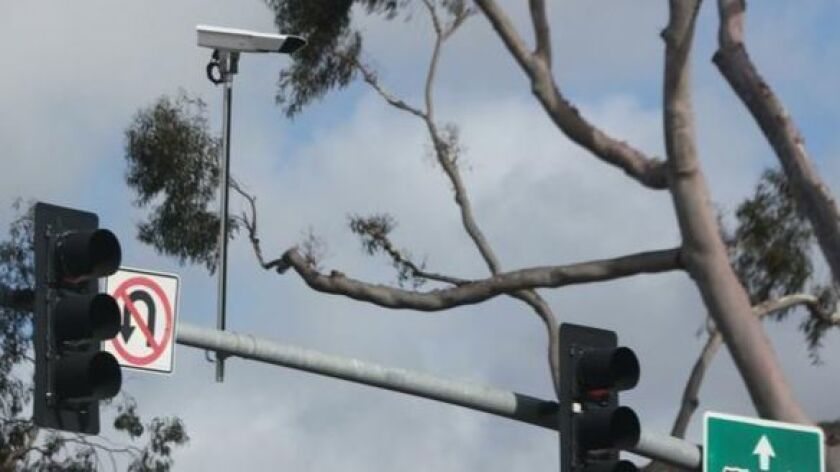 In May 2016, the City of San Diego installed adaptive signal cameras at key La Jolla Parkway/Torrey Pines Road intersections to read traffic volumes and adjust green light durations.