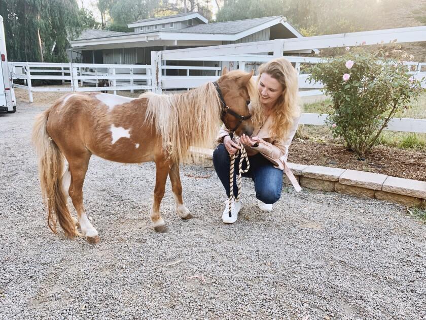 Savanah Stuart of Rancho Santa Fe's Little Hooves Rescue.
