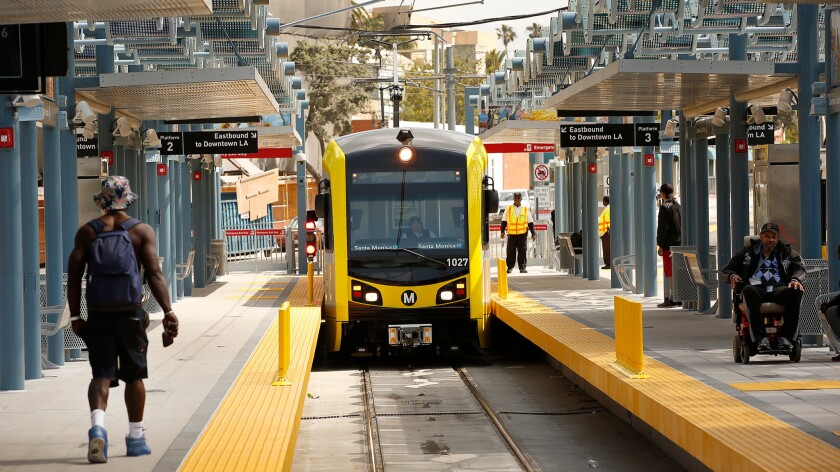 Expo Line train in Santa Monica