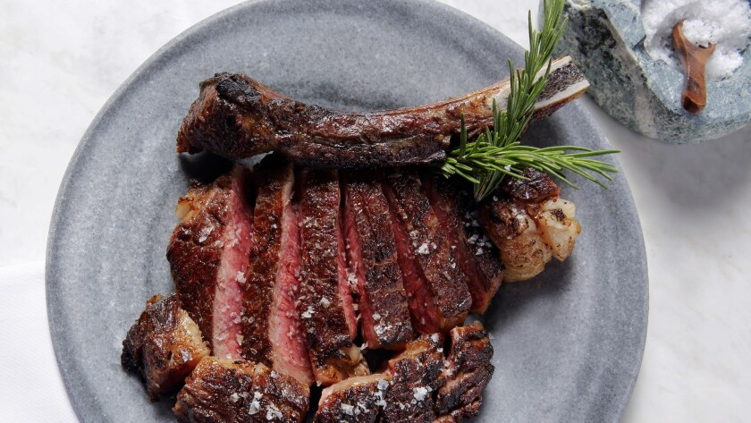 Texas rib-eye is among the many offerings on Chef José Andrés' tasting menu on New Year's Eve at Bazaar Meat.