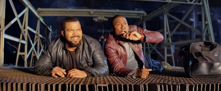 """Ice Cube, left, and Kevin Hart in """"Ride Along."""""""