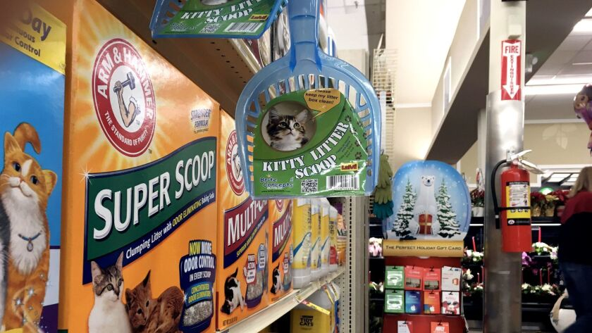 Kitty litter at a store in Cheyenne, Wyo. The market for a peculiar type of clay mined in Wyoming is looking up, thanks to a better outlook for oil and gas drilling — and to cat litter.