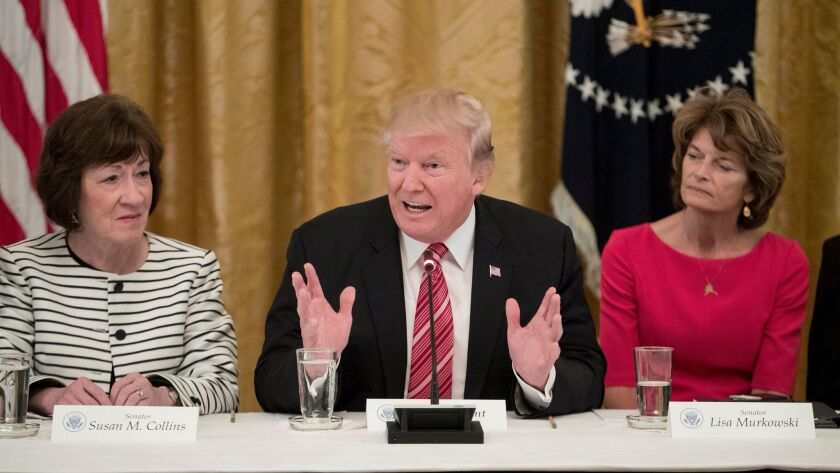 US President Donald J. Trump hosts Republican Senators at the White House to discuss healthcare legislation