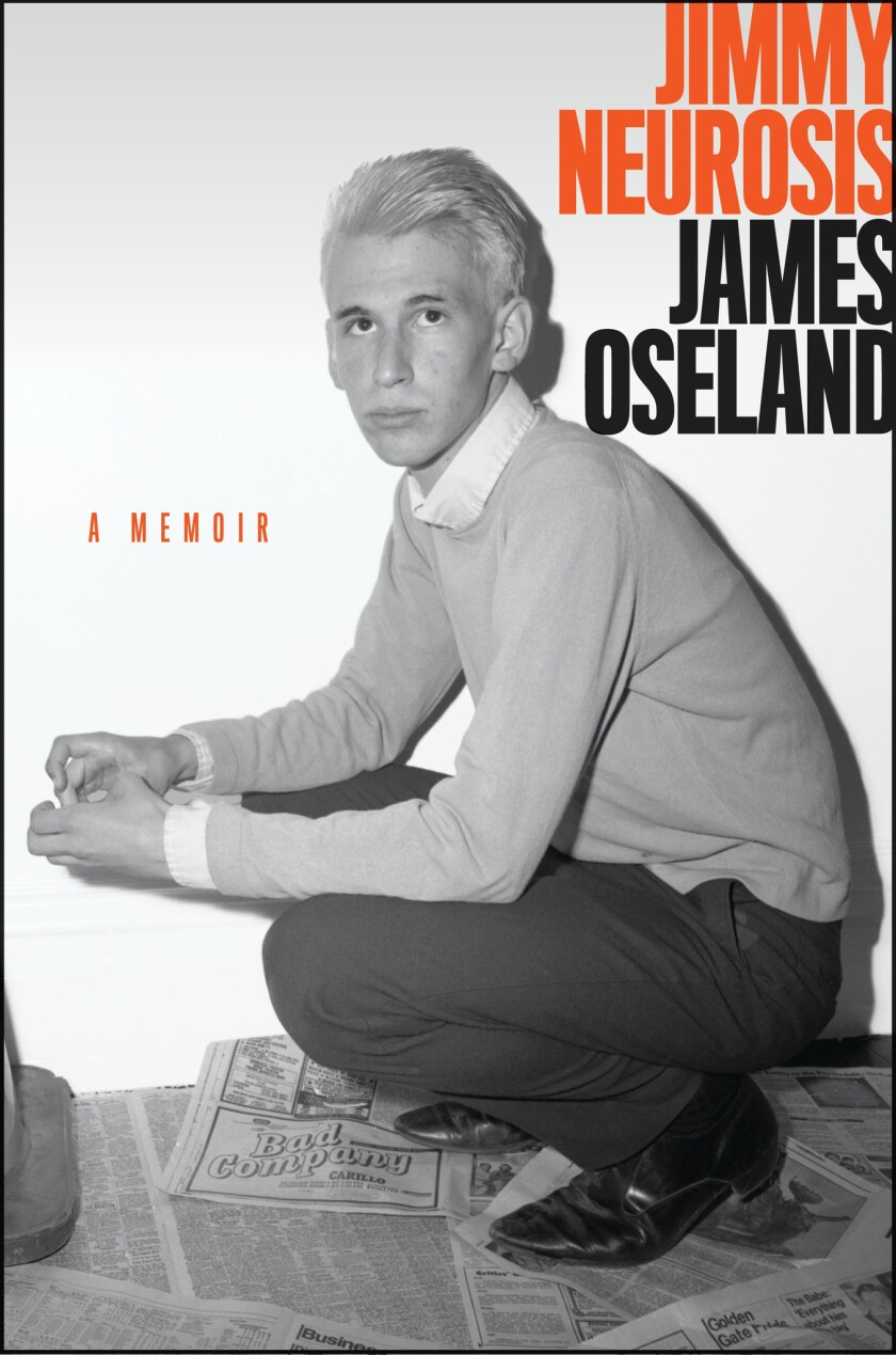 """A book jacket of """"Jimmy Neurosis."""" by James Oseland. Credit: Ecco"""