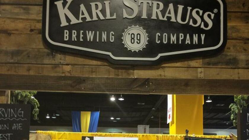 The team from Karl Strauss shows off medals won during the 2015 GABF at the end of September. (Courtesy photo)