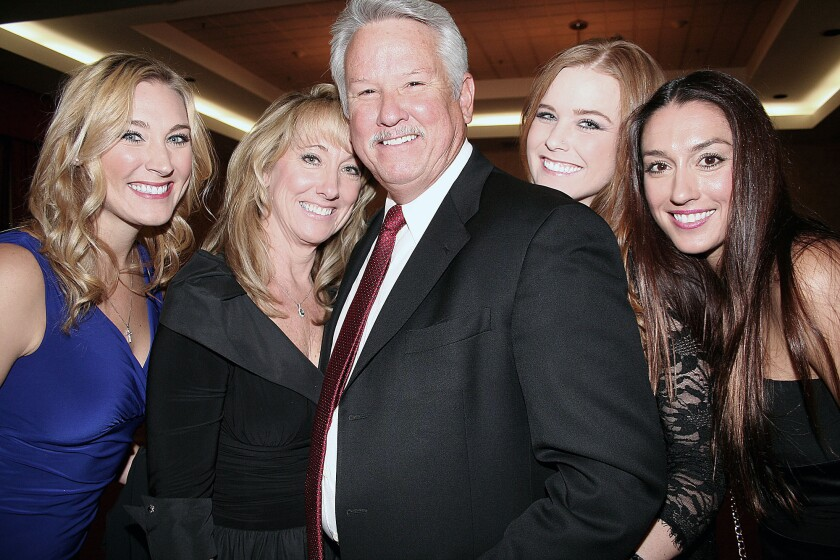 Ron DePompa and family at Dancing for Diamonds
