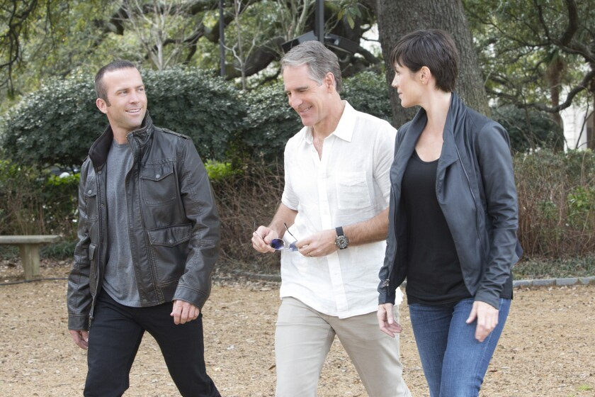 """""""NCIS: New Orleans"""" is coming to CBS this fall with Lucas Black, left, Scott Bakula and Zoe McLellan."""