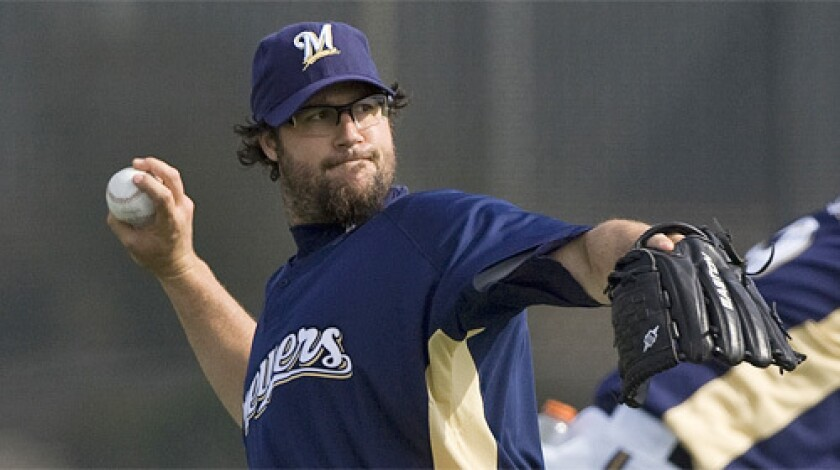 Eric Gagne, who pitched for the Texas Rangers and Boston Red Sox last season, signed a one-year, $10-million free-agent contract with the Milwaukee Brewers two days before the Mitchell Report was released in mid-December.