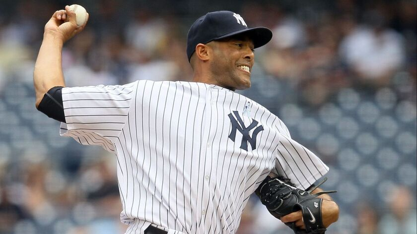 New York Yankees closer Mariano Rivera was one of four players selected Tuesday to be inducted into the Baseball Hall of Fame.