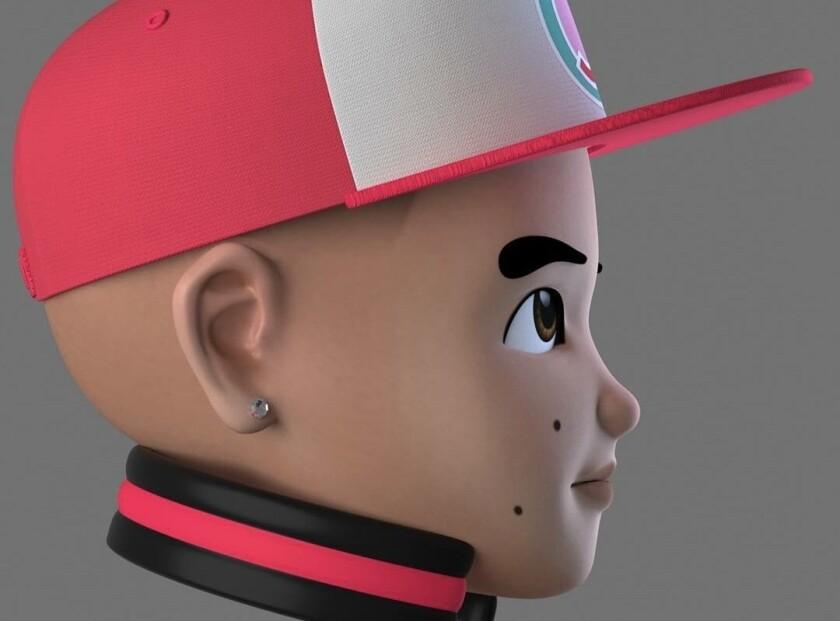 """Daddy Yankee en versión animada juvenil que resalta en el video de su nueva propuesta """"Con calma""""."""
