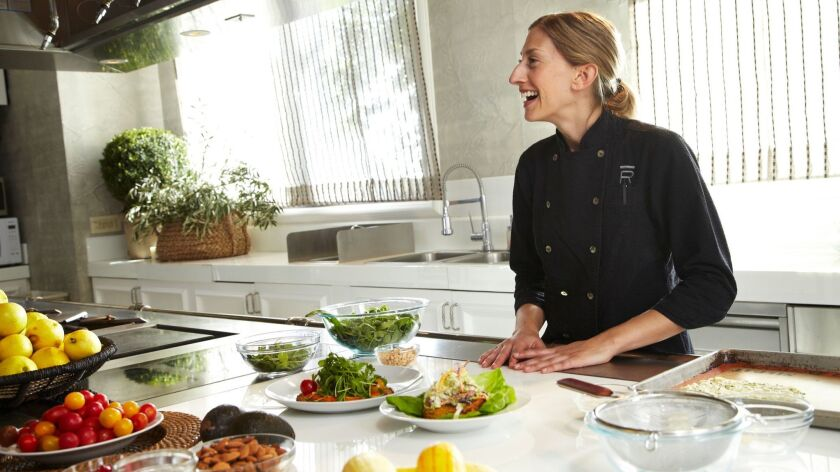 Ranch 4.0 Executive Chef Meredith Haaz hosts a cooking class for participants.