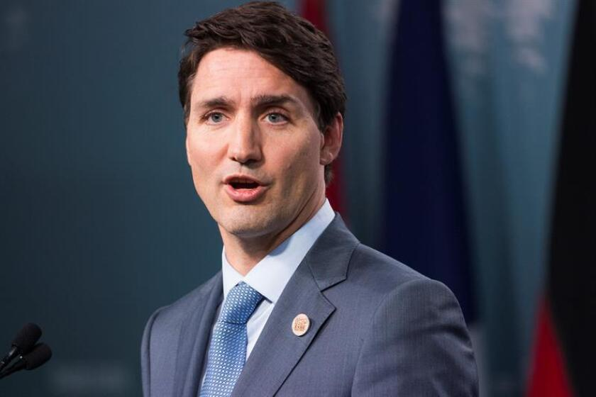 Prime Minister of Canada Justin Trudeau holds a news conference. EFE/EPA/Archivo
