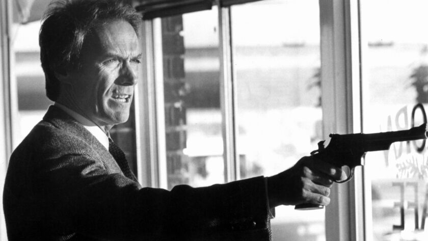 "NA.0815.Eastwood––Clint Eastwood as Harry Callahan in ""Sudden Impact."" Photo/Art: Unknown Photograph"