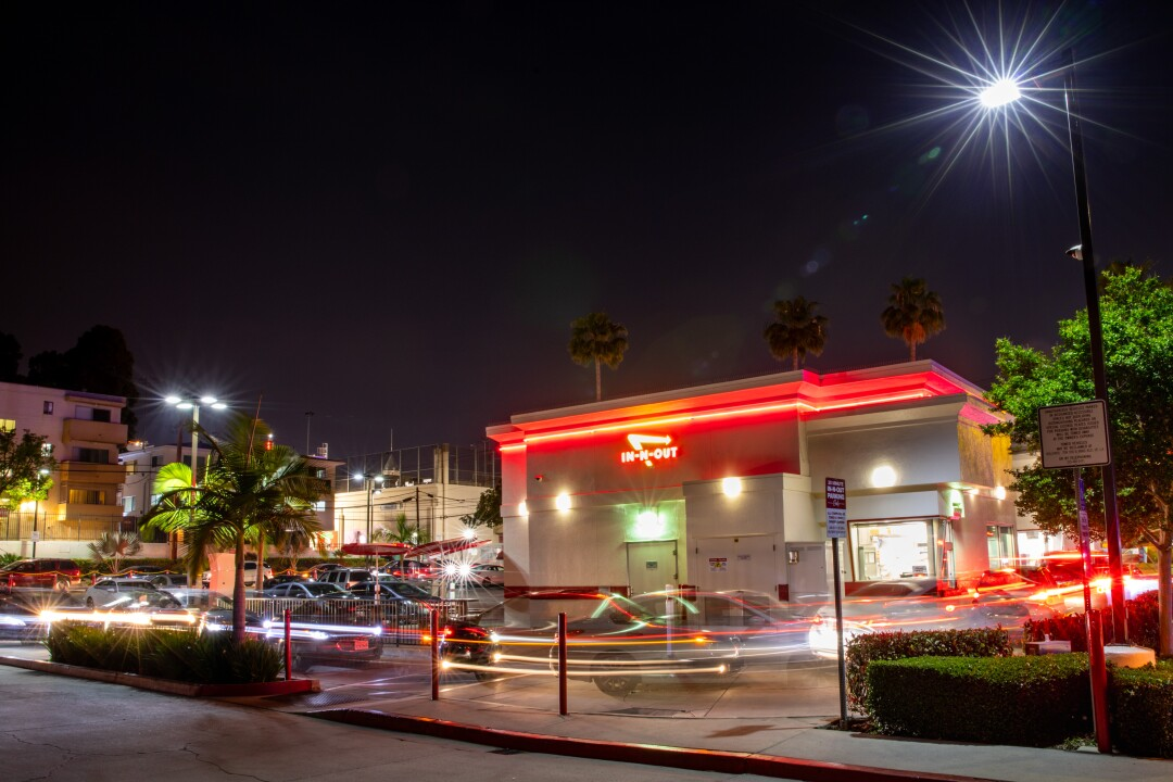 Drive-through at In-N-Out Burger