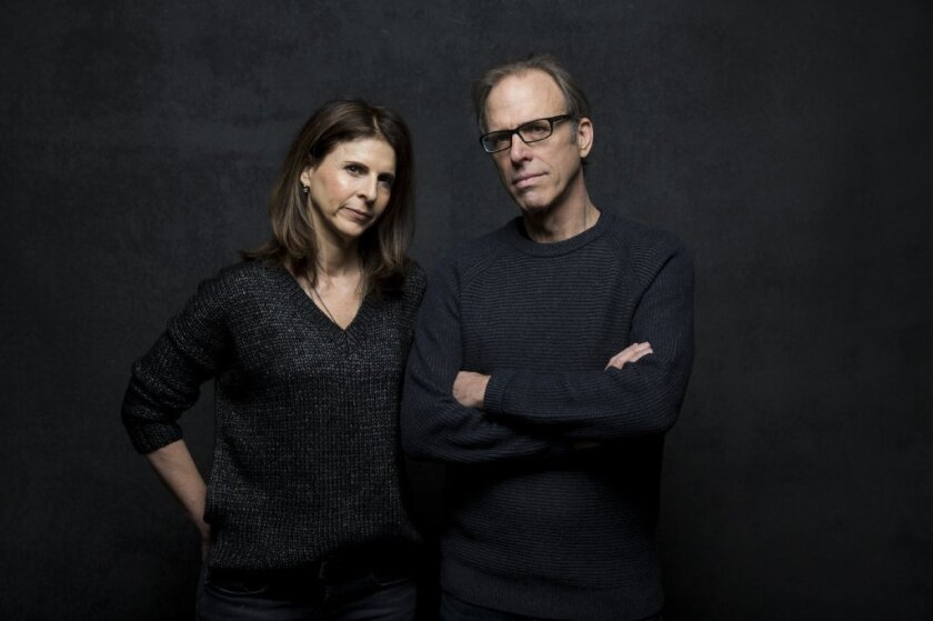 """The Hunting Ground"" director Kirby Dick, right, and producer Amy Ziering."