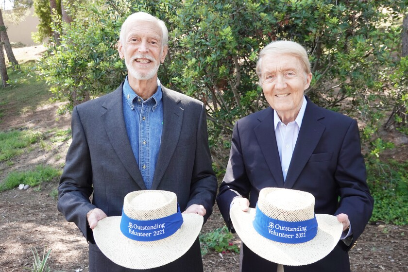 Scott Lawn and Marty Judge are co-chairmen of this year's Hats Off to Volunteers recognition event in Rancho Bernardo.