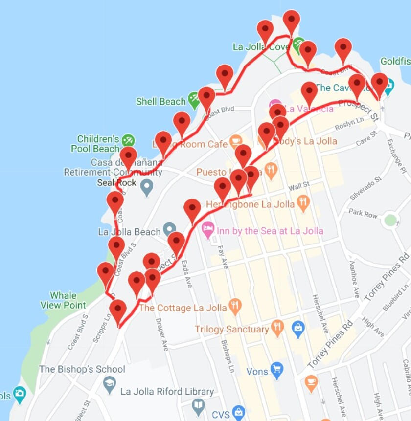 Tour Freely launched an audio walking tour of La Jolla on a 2-mile route.