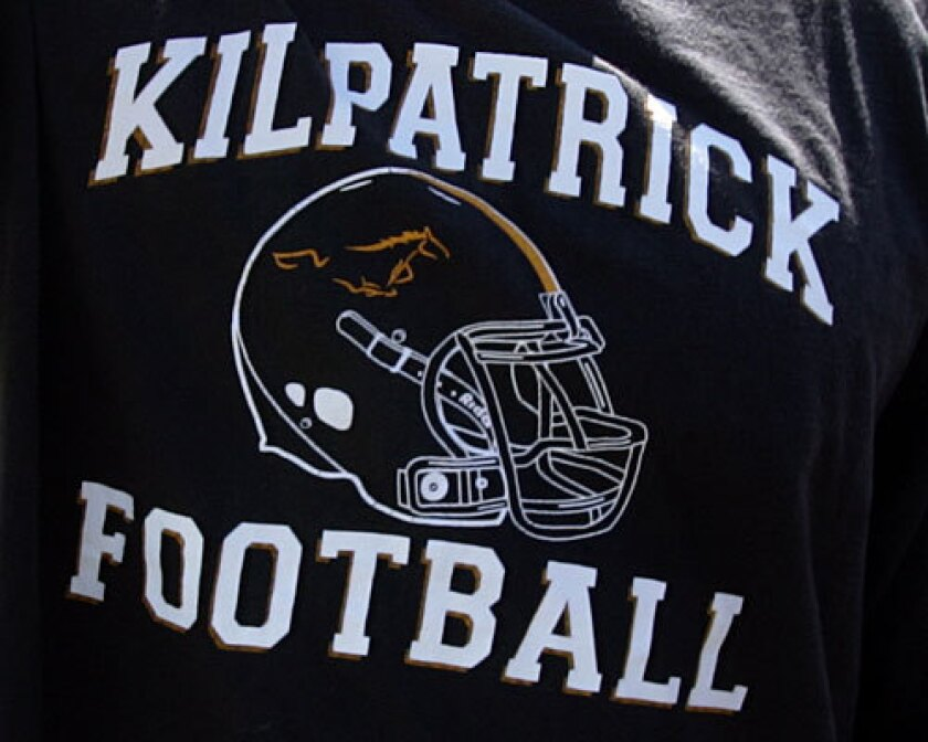 Kilpatrick football T-shirt