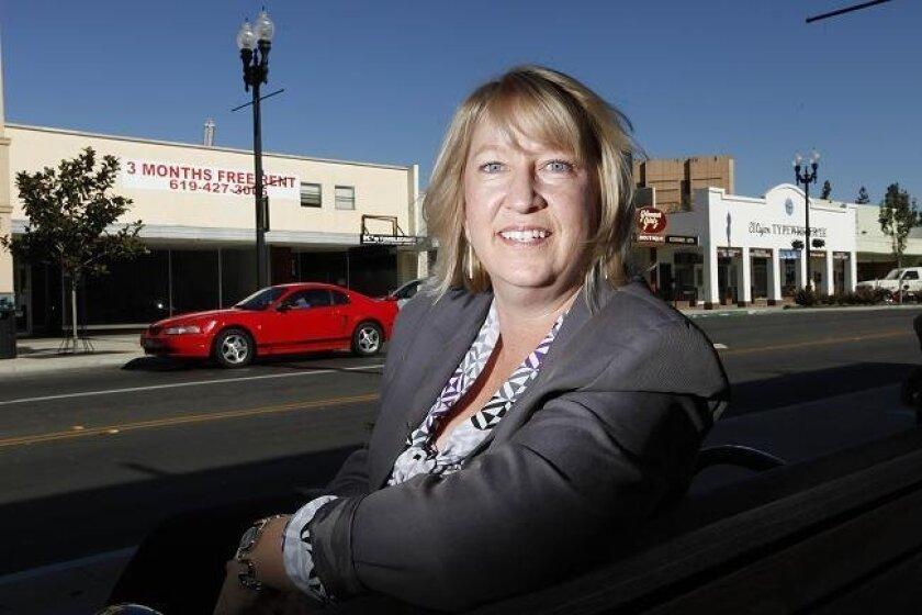 Claire Carpenter is departing as head of El Cajon's Community Redevelopment Corporation.