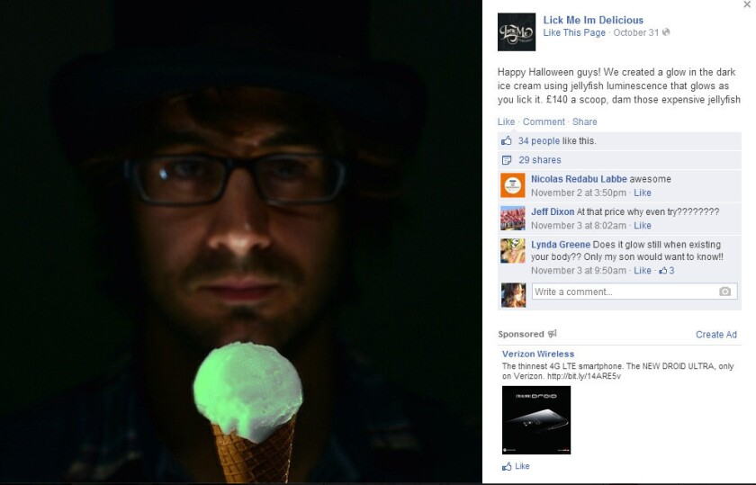 Glow-in-the-dark jellyfish ice cream