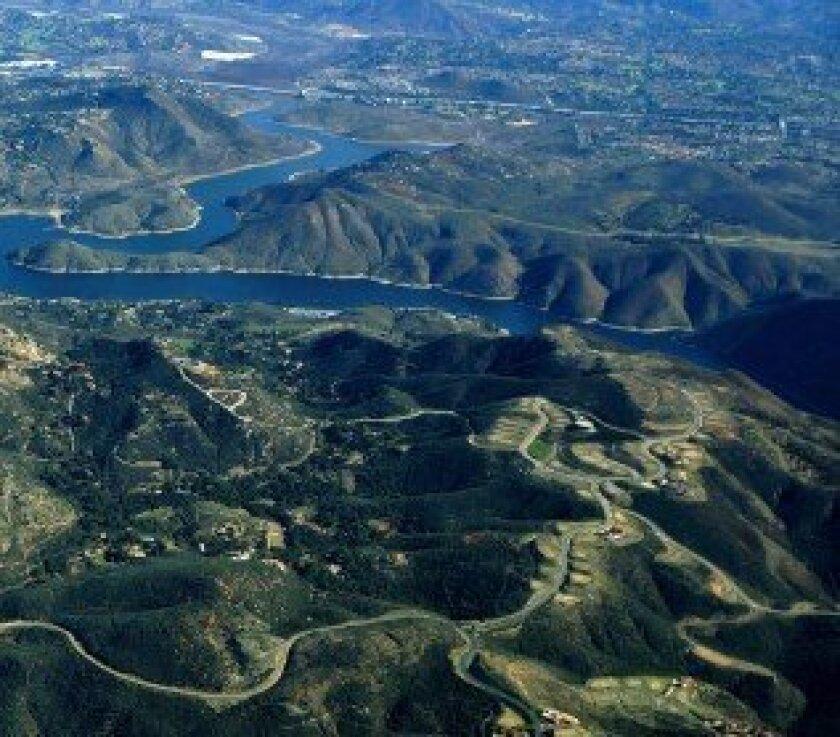 An aerial view of Cielo in Rancho Santa Fe.