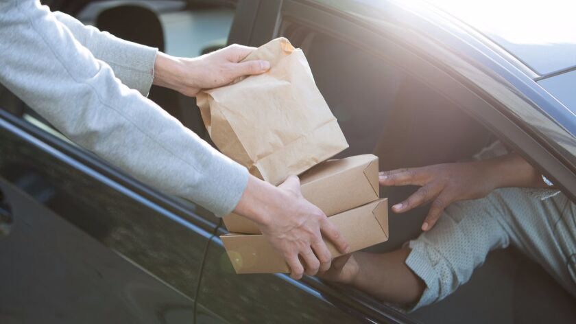 With UberEats customers pay $5 a pop to order from hundreds of different area restaurants and watch, in real-time, as their food travels to them by way of an Uber driver. The service is celebrating a year of service in San Diego.