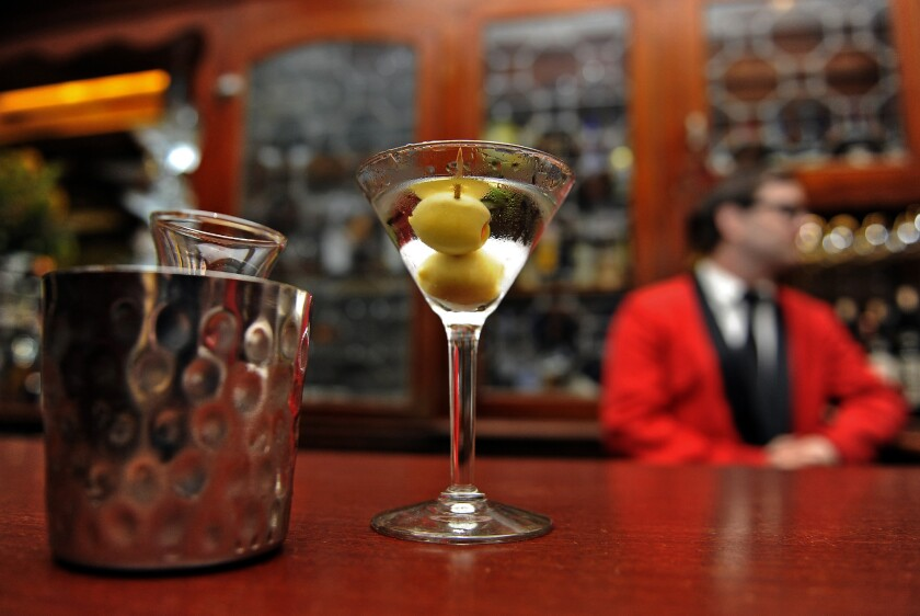 The martini is the emblematic cocktail at Hollywood's Musso & Frank Grill.