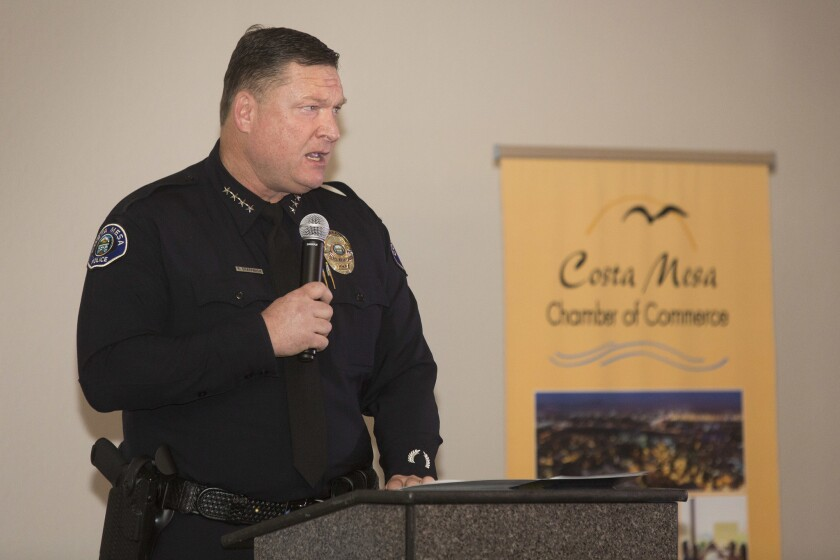 Costa Mesa Police Chief Rob Sharpnack