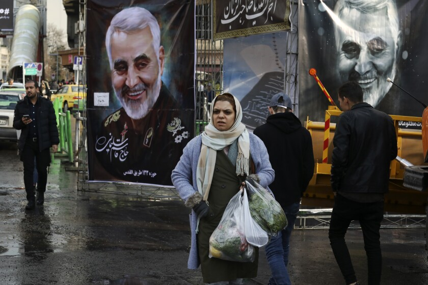 Pedestrians on the streets of Tehran