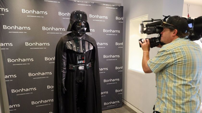 Darth Vader costume up for auction in L.A.