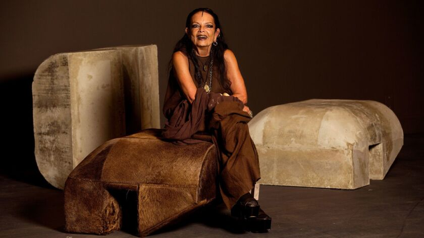 "Michèle Lamy, the driving force behind MOCA's new exhibition ""Rick Owens: Furniture."""