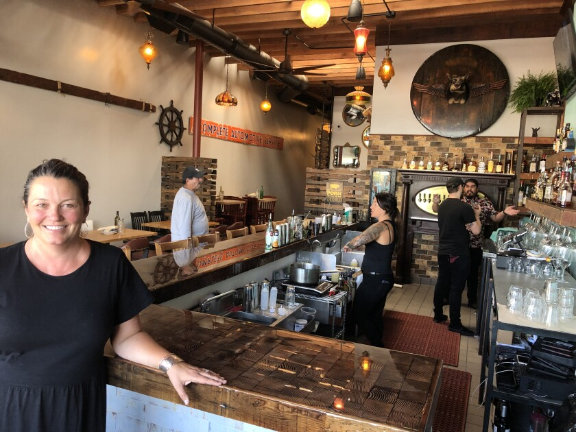 Aaron Browning inside the newly relocated Flying Pig Pub & Kitchen